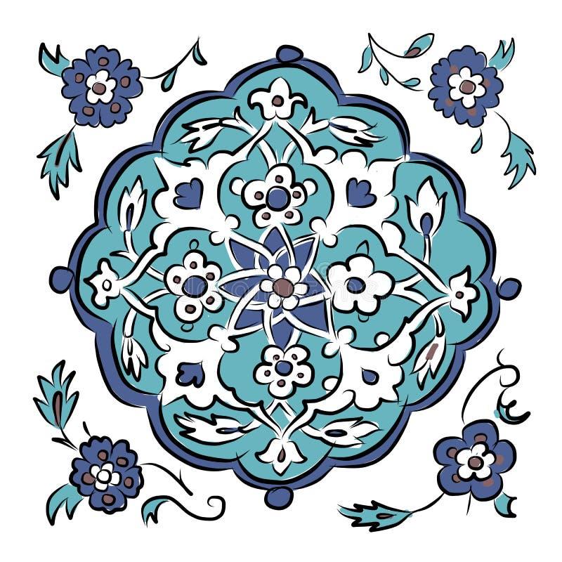 Modelo turco abstracto para su diseño ilustración del vector