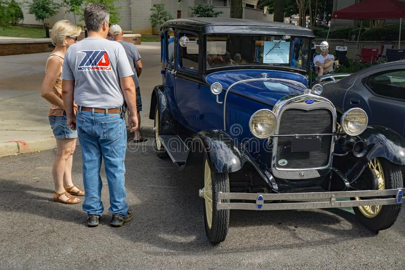 Modelo-Um 1929 de Ford Town Sedan imagem de stock