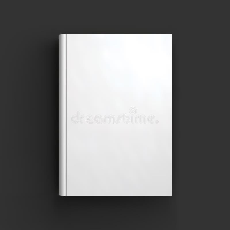 Modelo vazio do livro, do livro de texto, da brochura ou do caderno ilustração do vetor
