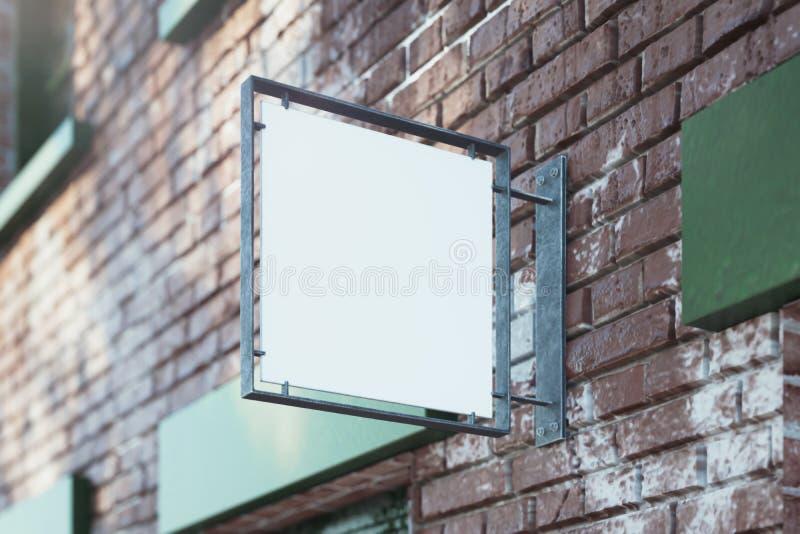 Modelo vazio do quadro indicador da loja Signage vazio da loja Sinal de rua, rendição 3d ilustração stock