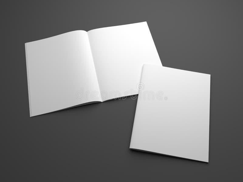 Modelo vazio dos compartimentos da ilustração 3D com aberto e tampa ilustração royalty free
