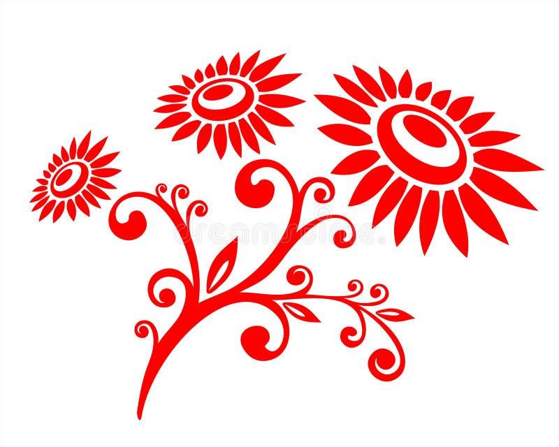 Modelo vegetativo rojo stock de ilustración