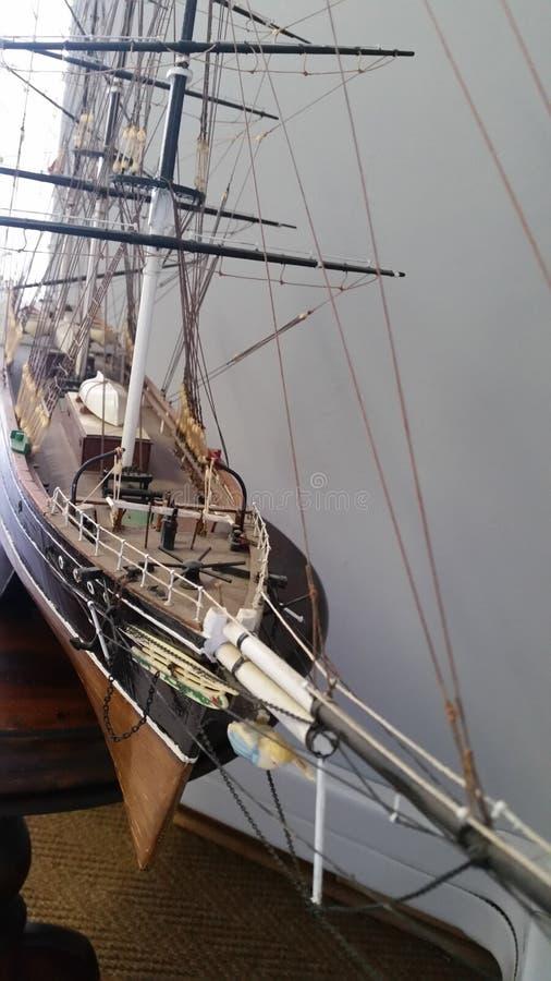 Modelo velho do barco do vintage imagem de stock