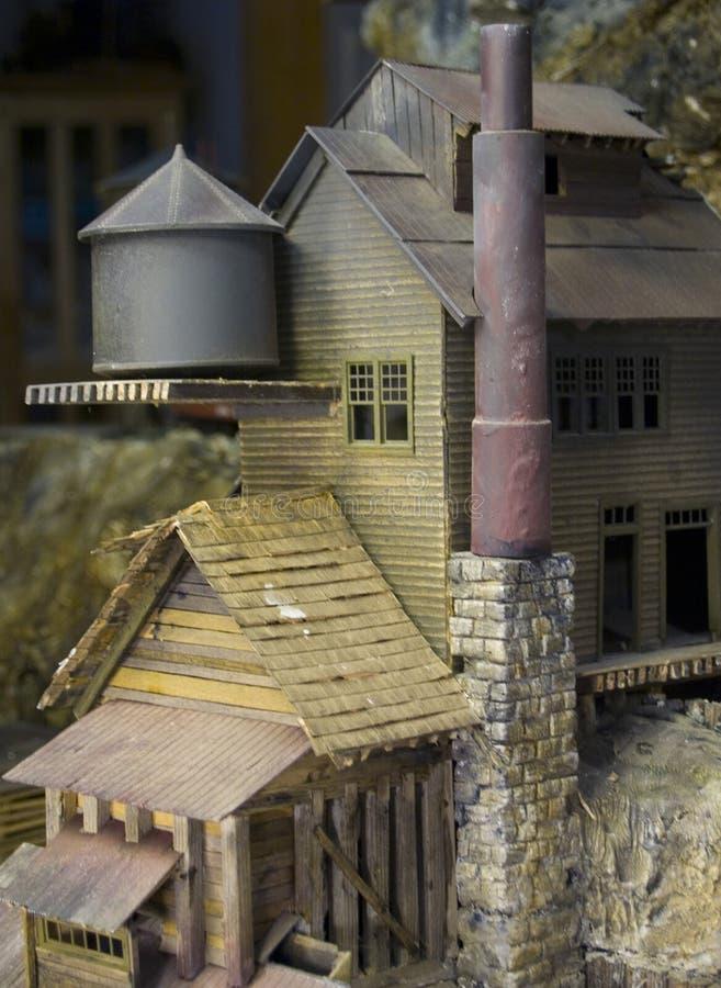 Modelo velho do moinho imagens de stock
