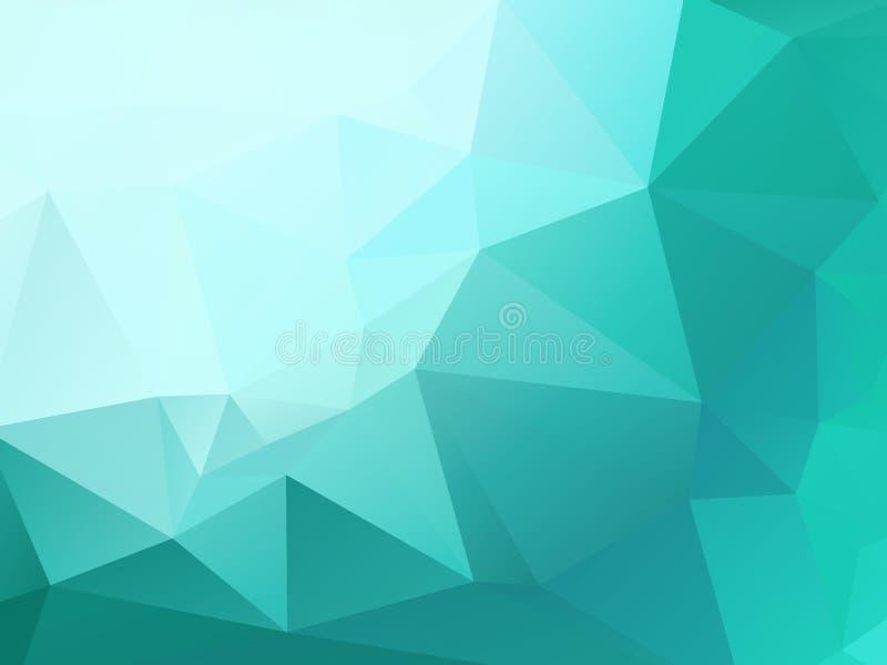 Modelo verde claro del triángulo del mosaico ilustración del vector