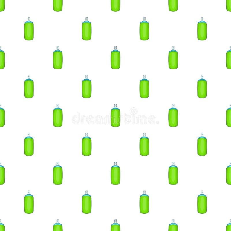 Modelo verde de la botella del aerosol del ambientador de aire ilustración del vector