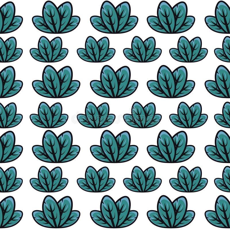 Modelo verde de la hoja stock de ilustración