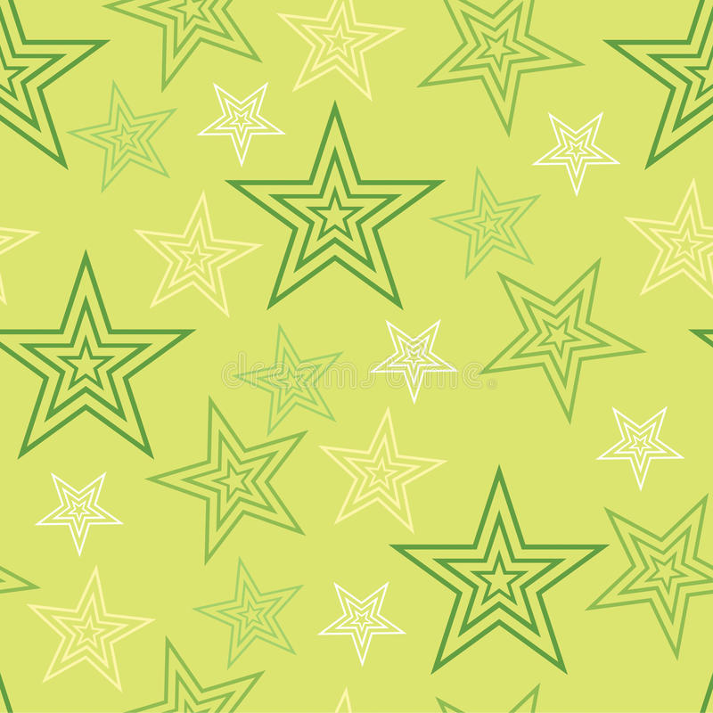 Modelo verde 1 del extracto del fondo de las estrellas inconsútiles ilustración del vector