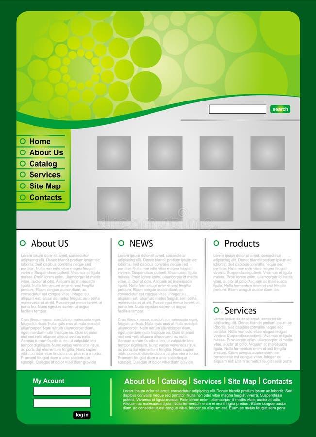 Modelo verde del Web del asunto stock de ilustración