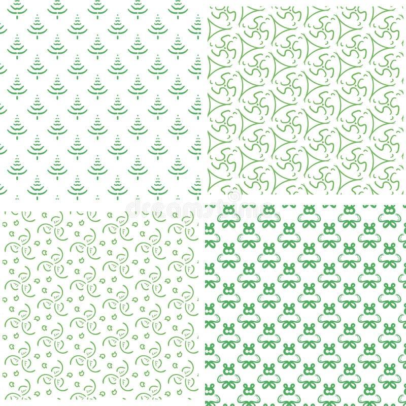 Modelo verde inconsútil simple cuatro fotografía de archivo