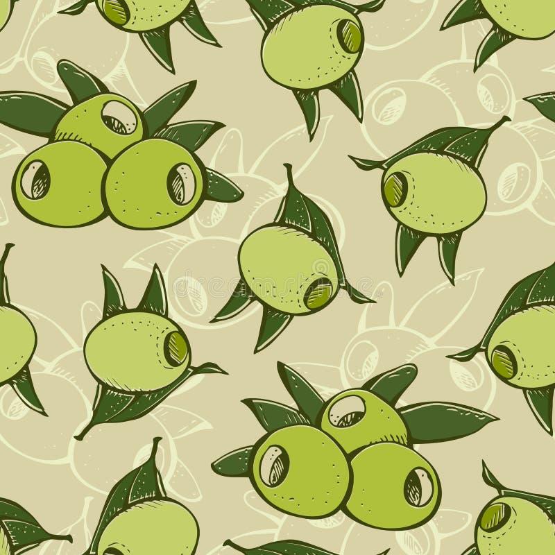 Modelo verde oliva inconsútil stock de ilustración