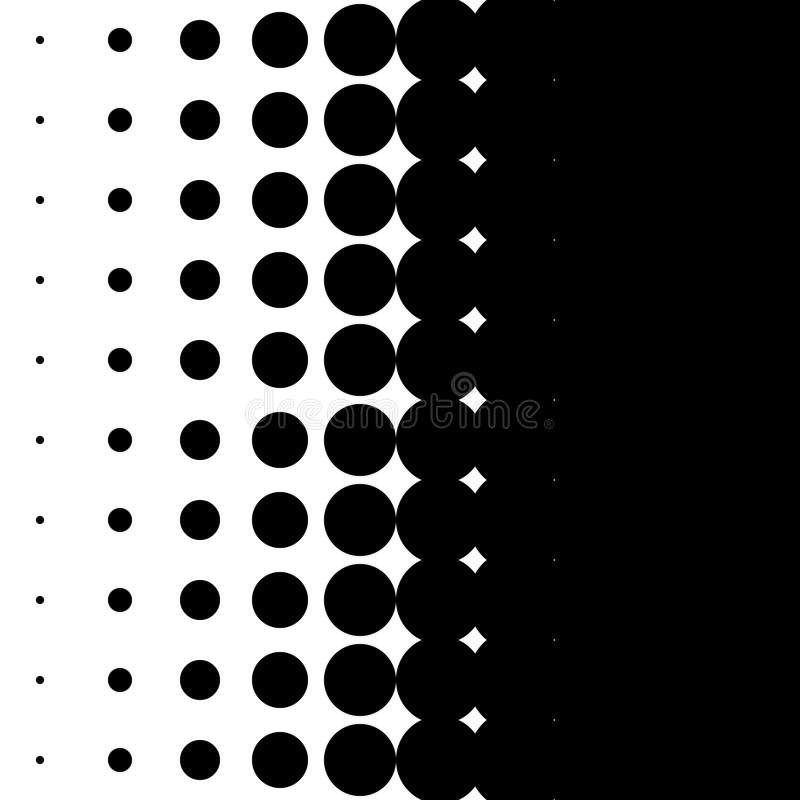 Modelo vertical con los puntos - textu de semitono monocromático del tono medio ilustración del vector