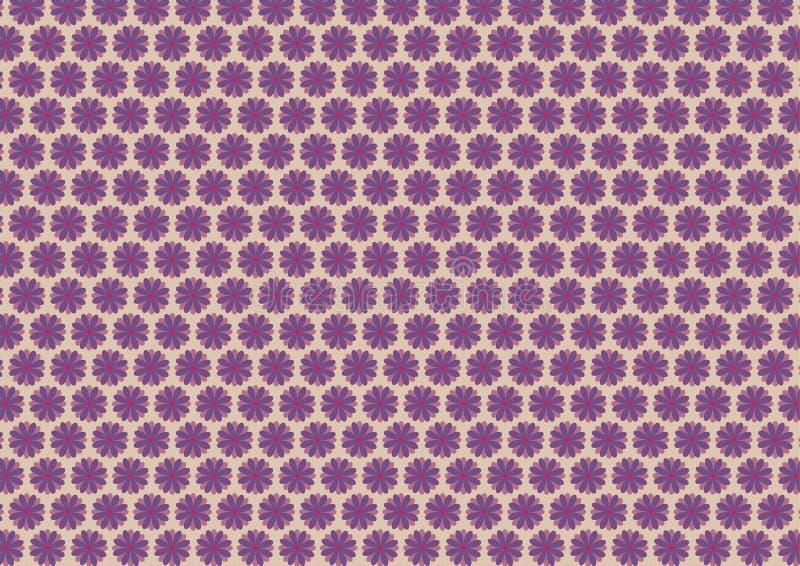 Modelo violeta floral del otoño stock de ilustración