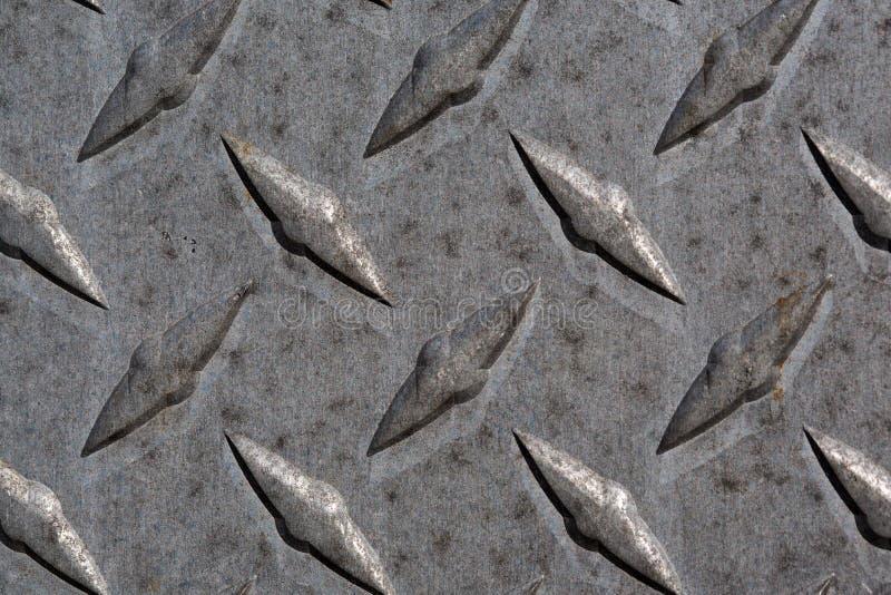 Modelo y fondo de la placa del diamante del metal inconsútiles foto de archivo libre de regalías