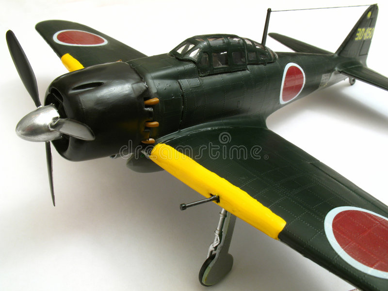 Modelo zero do avião de combate fotos de stock