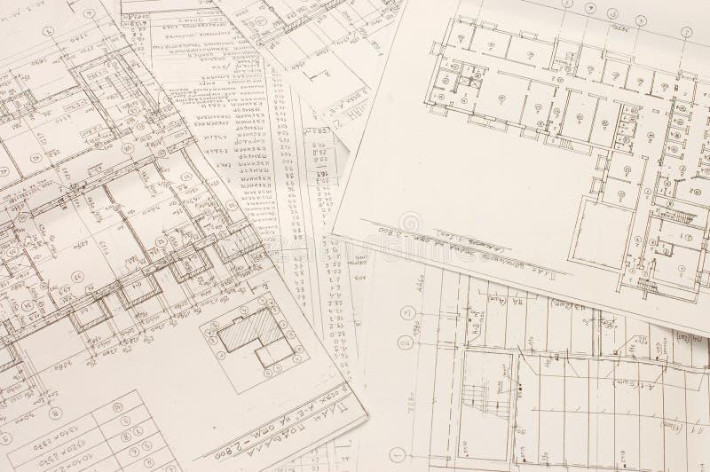 Modelos arquitectónicos foto de stock
