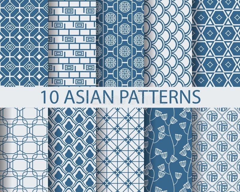 Modelos asiáticos stock de ilustración