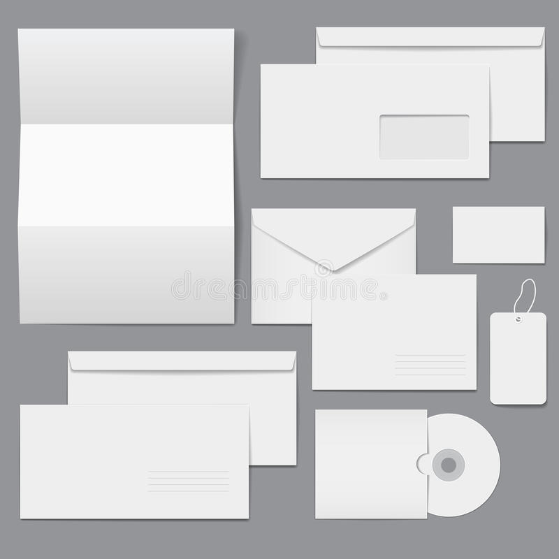 Modelos corporativos vacíos del asunto en blanco libre illustration