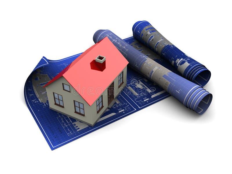 Modelos da casa ilustração stock