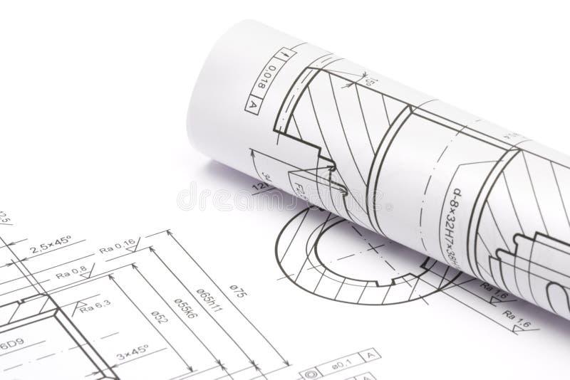 Modelos da engenharia fotos de stock