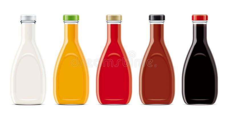 Modelos das garrafas de vidro imagens de stock royalty free