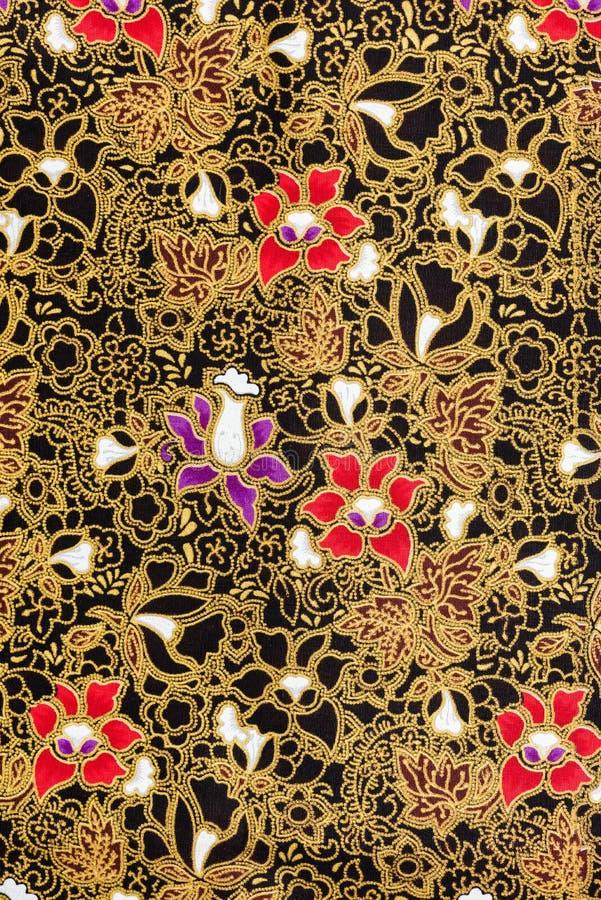 Modelos de flores elegantes en tela de seda tailandesa fotos de archivo