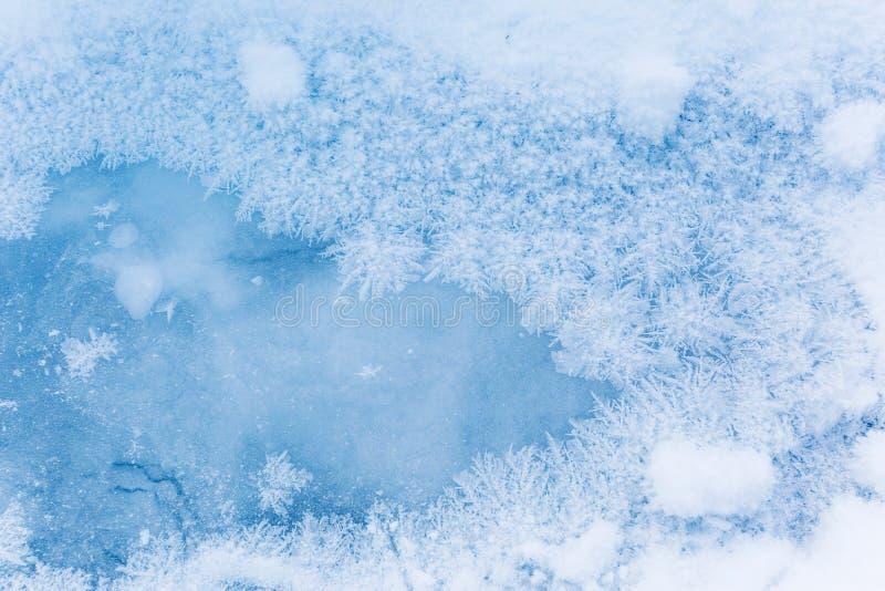 Modelos de Frost en el hielo Belleza en naturaleza imagen de archivo libre de regalías