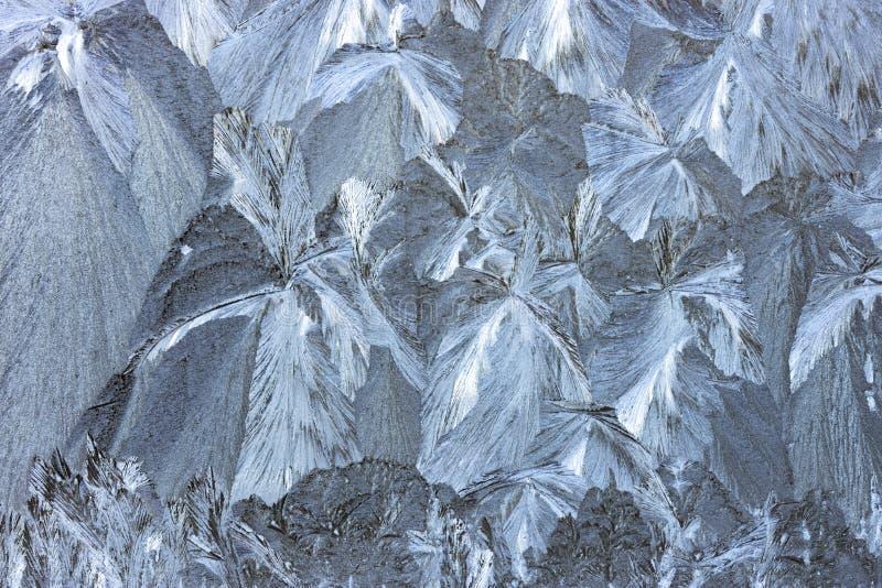 Modelos de Frost sobre el vidrio imagen de archivo
