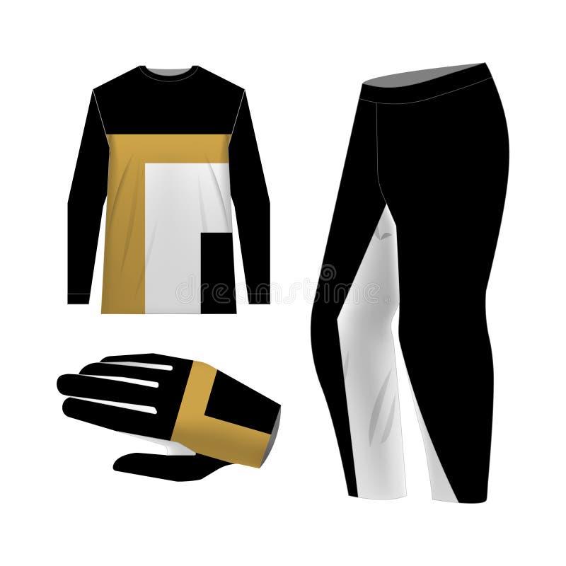 modelos de kit de motocross ilustração do vetor