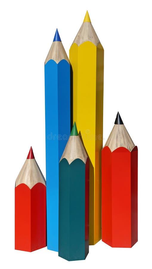 Modelos de la calle de lápices coloreados fotos de archivo libres de regalías