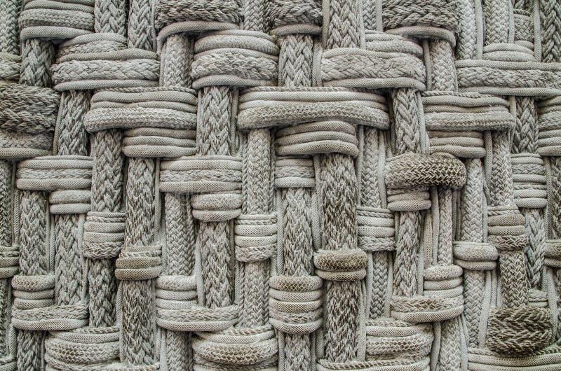 Modelos de la construcción de las cuerdas en color gris fotos de archivo libres de regalías