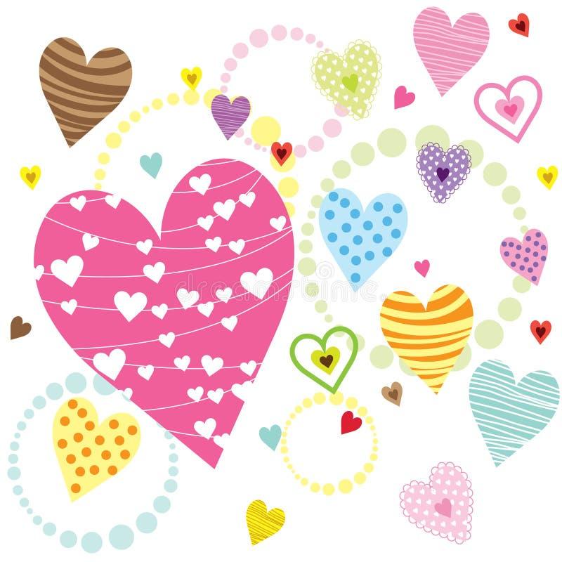 Modelos de la forma de los corazones ilustración del vector