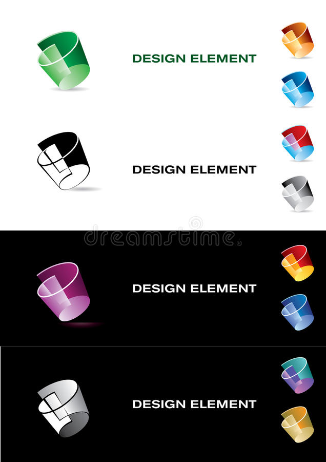 Modelos de la insignia. libre illustration