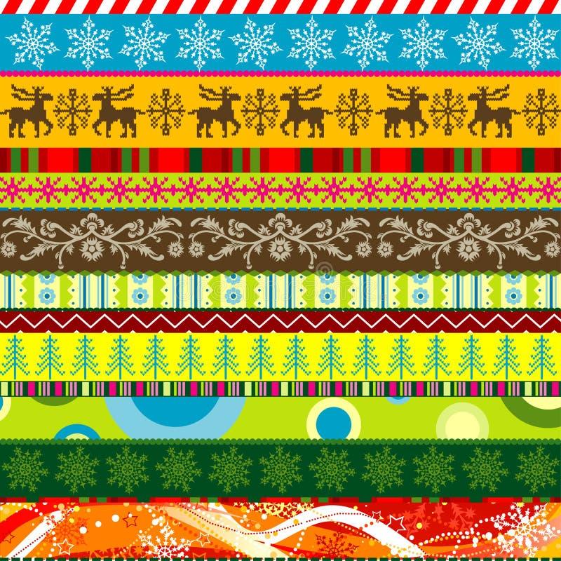 Modelos de la Navidad del libro de recuerdos para el diseño stock de ilustración