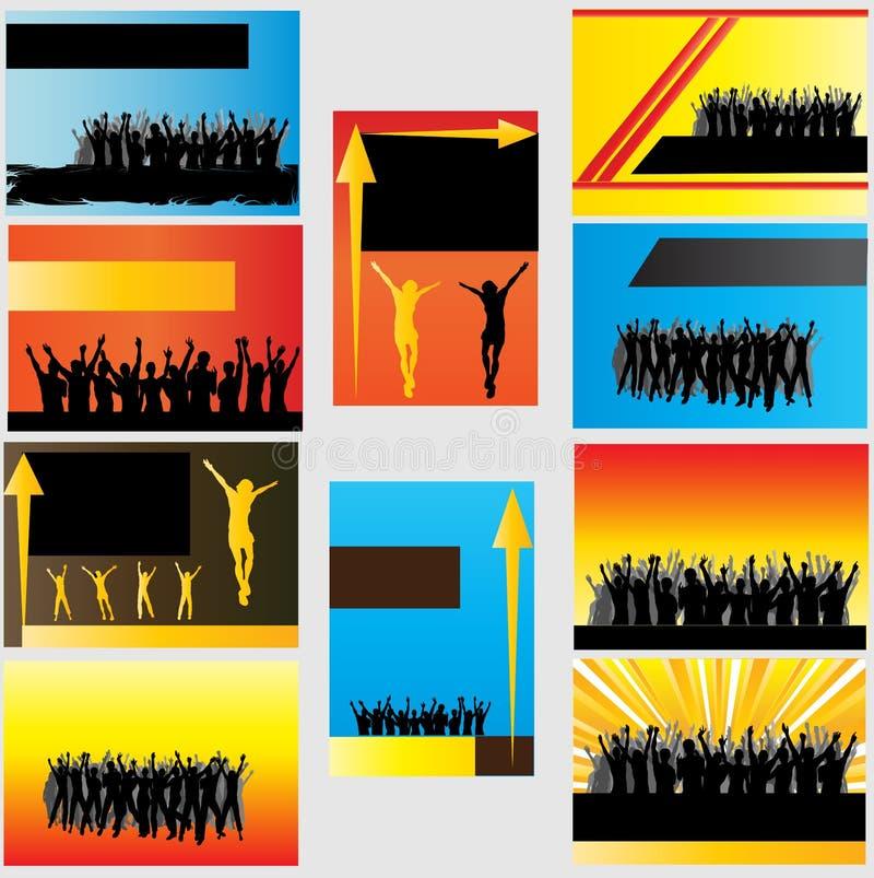 Download Modelos De La Tarjeta De Visita Ilustración del Vector - Ilustración de aclamación, noche: 7279267