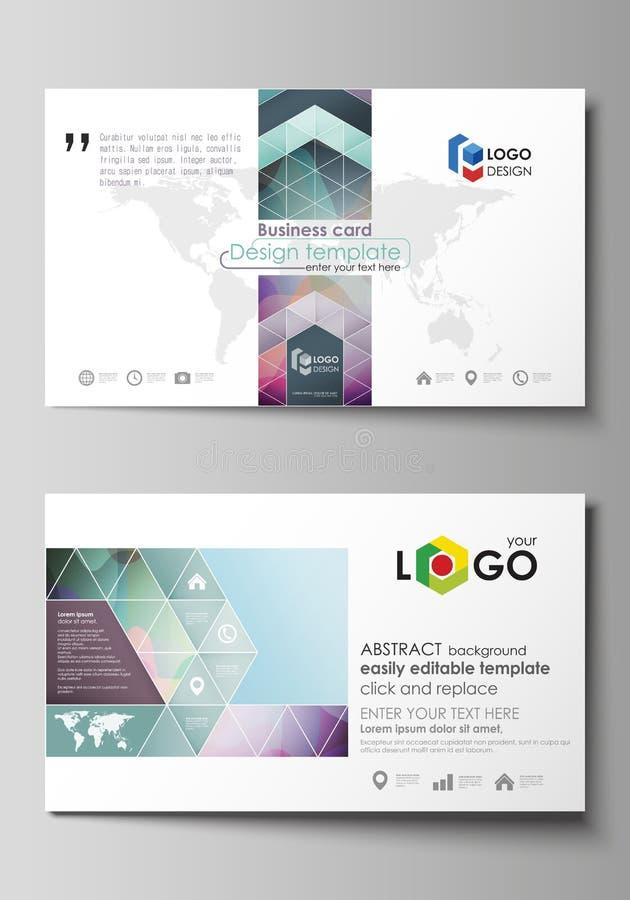 Modelos de la tarjeta de visita Disposición editable fácil, plantilla plana del estilo libre illustration