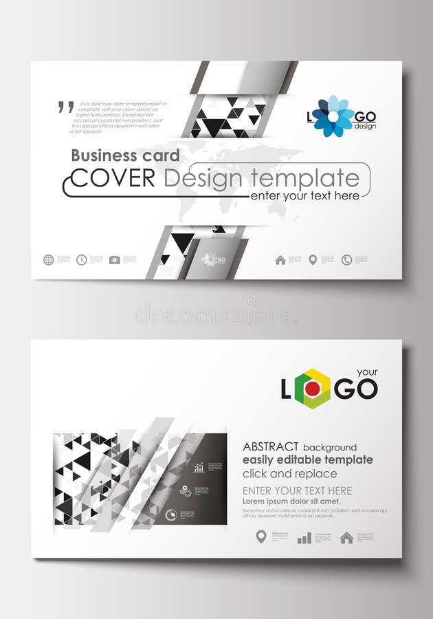 Modelos de la tarjeta de visita Plantilla de la cubierta, disposición en blanco, plana editable fácil Fondo abstracto del diseño  libre illustration