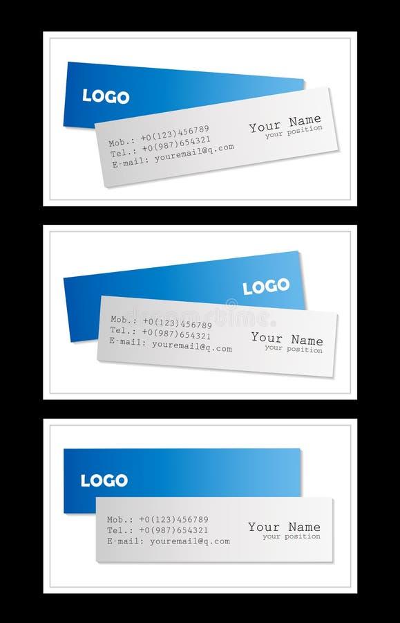 Modelos de las tarjetas de visita stock de ilustración