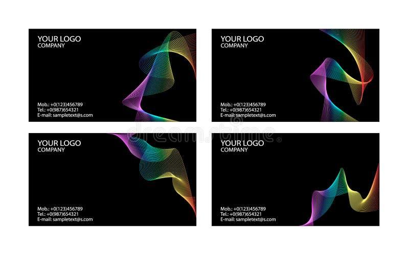 Modelos de las tarjetas de visita libre illustration
