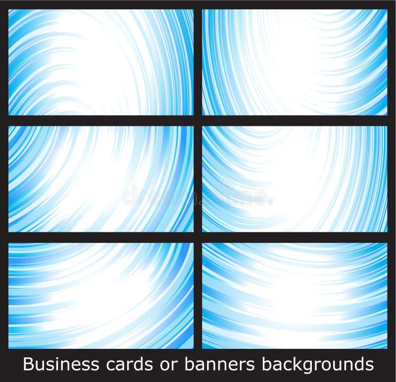 Modelos de las tarjetas de visita o fondos de las banderas stock de ilustración