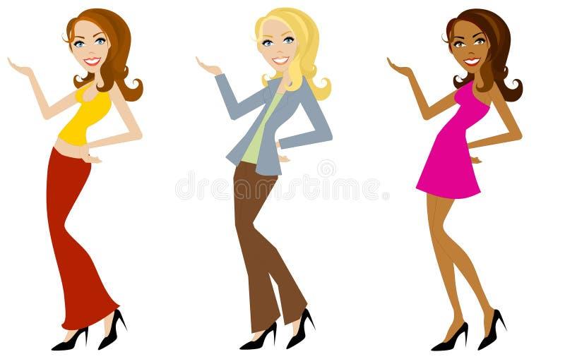 Modelos de manera de moda libre illustration