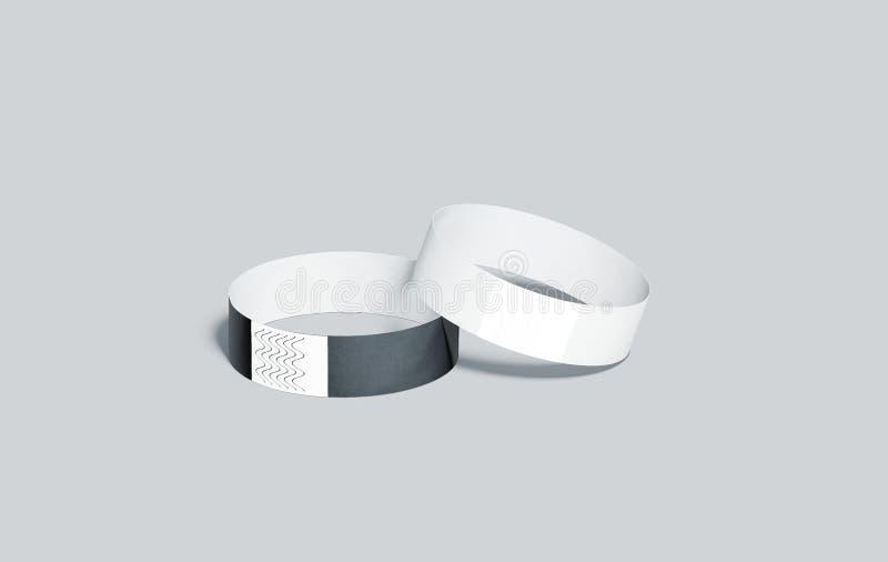 Modelos de papel preto e branco vazios dos punhos fotografia de stock