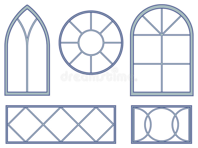Modelos decorativos do indicador ilustração royalty free