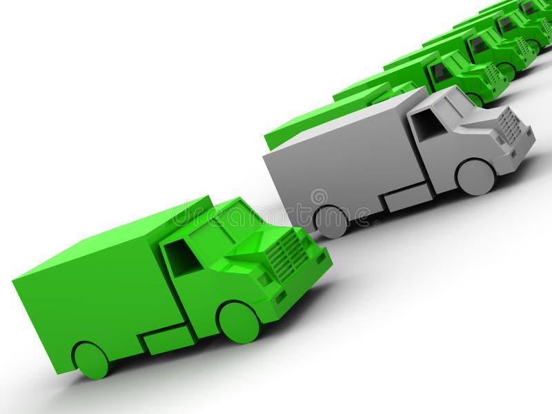 Modelos del acoplado stock de ilustración