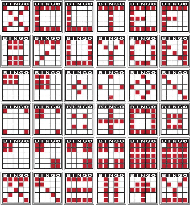 Modelos del bingo stock de ilustración
