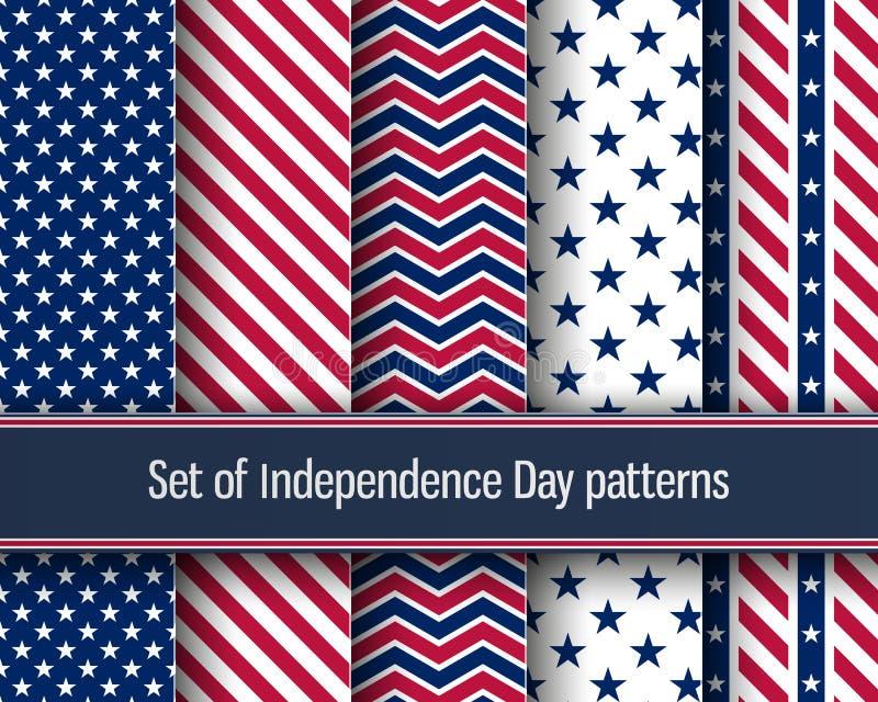 Modelos del Día de la Independencia stock de ilustración