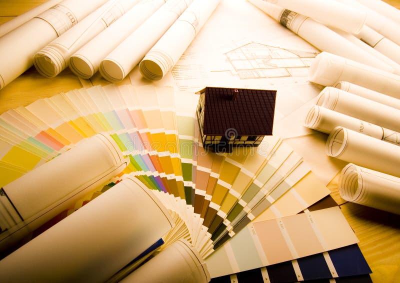 Modelos del plan de la casa fotografía de archivo