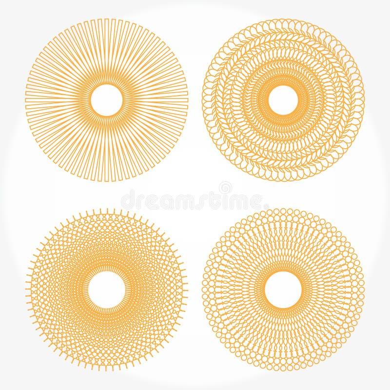 Modelos del Spirograph stock de ilustración
