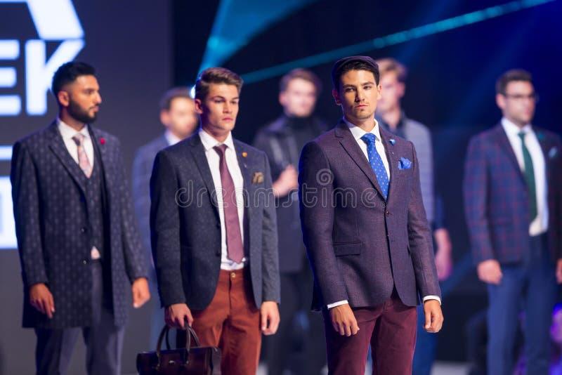 Modelos do homem de Sofia Fashion Week imagem de stock