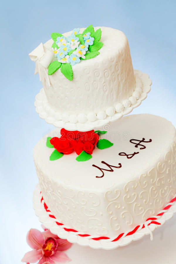 Modelos dos bolos de casamento foto de stock royalty free